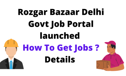 Rozgar Bazaar Delhi Govt Job Portal launched - How To Get Jobs ? Details