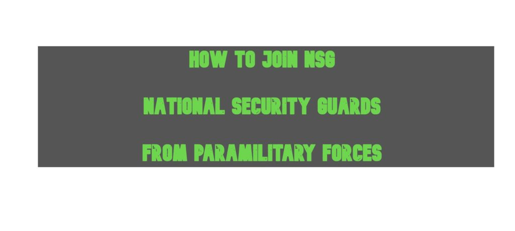 How to Join NSG from Paramilitary Forces - Guide