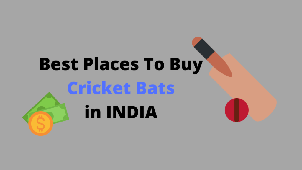 Best Places to Buy Cricket bats in India - Bats For Cricket Lovers
