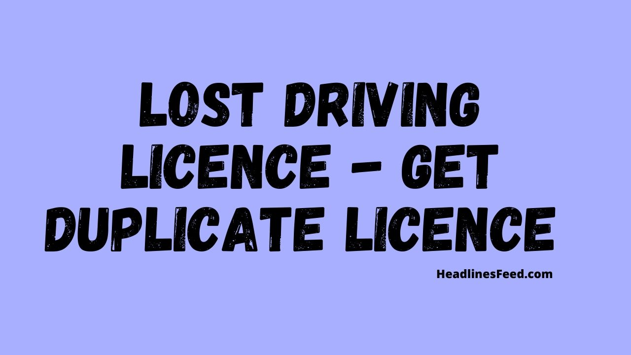 Lost Driving Licence What to Do Now ? Steps to Follow 2020
